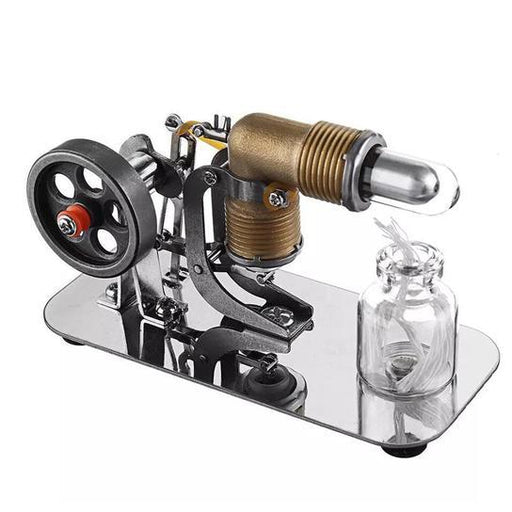 enginediy Single Cylinder Stirling Engine Mini Stirling Engine Motor Model Science Experiment Kit - Enginediy