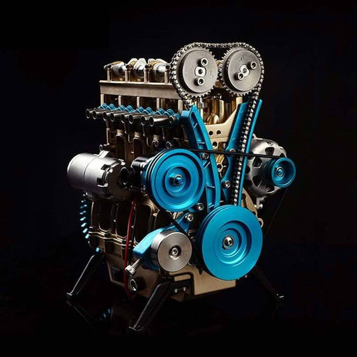 enginediy DIY Engine miniature 4 cylinder engine kit | v4 car engine model (357Pcs)