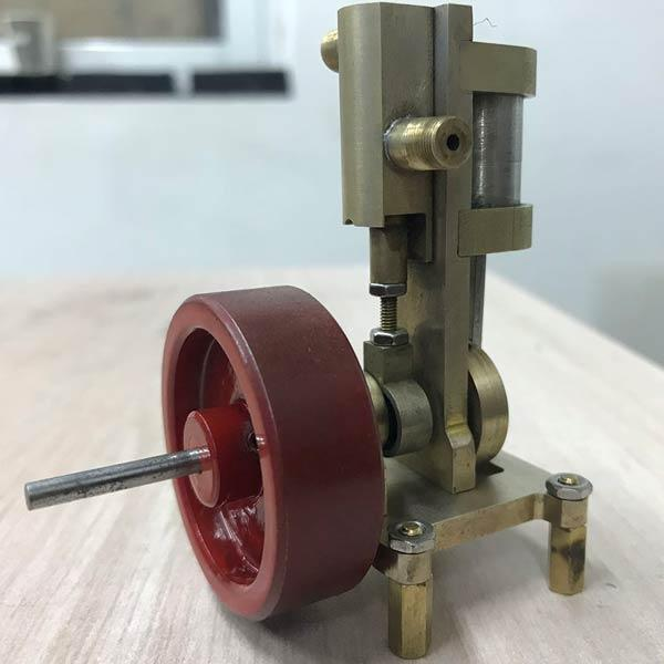 Mini Vertical Steam Engine Model Without Boiler - Science Toy Gift - enginediy