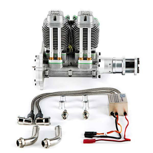 enginediy RC Engine NGH GF60i2 60cc Inline 2 Cylinder Four Stroke Petrol Engine for RC Airplane- Enginediy