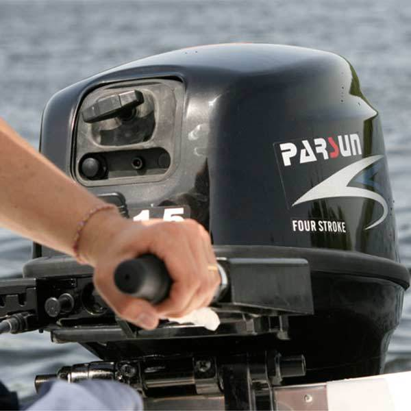 enginediy Engine Models Parsun Outboard Motor, 2 Stroke 4.8Hp 75cc Water-cooled Boat Engine Outboard Boat Motor