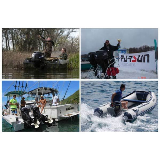Parsun Outboard Motor, 2 Stroke 4.8Hp 75cc Water-cooled Boat Engine Outboard Boat Motor - enginediy