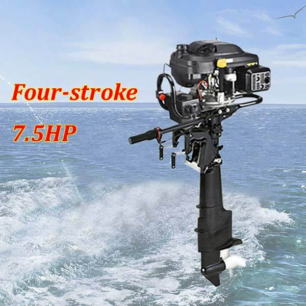 Outboard Motors, 4 Stroke 9HP 224cc Air-cooled Boat Engine Outboard Boat Motor for 3-7.5m Boat - enginediy