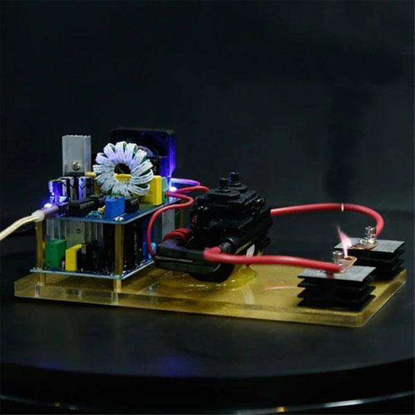 enginediy Engine Models Plasma Loudspeaker 3.5mm Audio Plasma Arc Speaker Music Player Science Toy - Enginediy