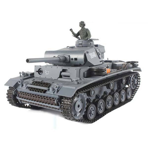enginediy RC Car RC Tanks that Shoot BBS 1/16 2.4GHZ RC German III L Battle Tank with Smoke & Sound