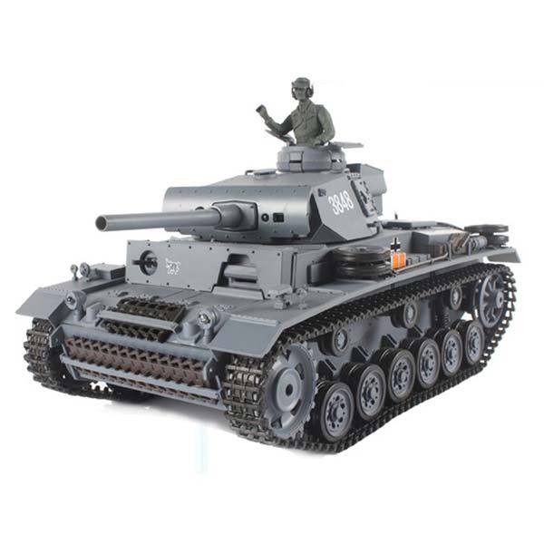 RC Tanks that Shoot BBS 1/16 2.4GHZ RC German III L Battle Tank with Smoke & Sound - enginediy