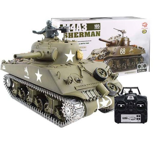 RC Tanks that Shoot BBS Metal 1/16 M4A3 Sherman Tank with Smoke & Sound - enginediy