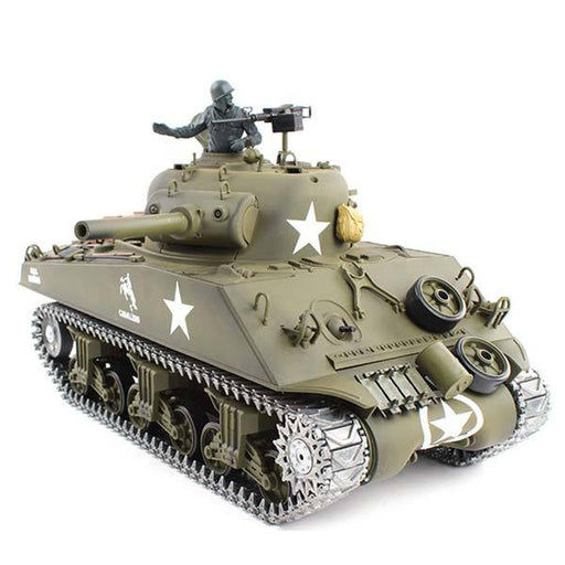 enginediy RC Car RC Tanks that Shoot BBS Metal 1/16 M4A3 Sherman Tank with Smoke & Sound