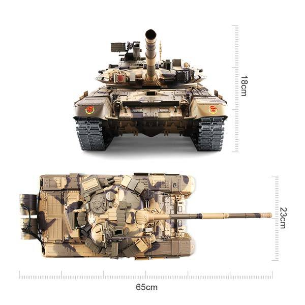 enginediy RC Car RC Tanks that Shoot 1/16 2.4GHZ Remote Control T90 Russian Battle Tank with Smoke & Sound