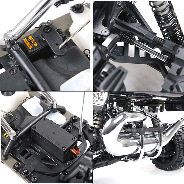 Rovan Baha320 Gas BAJA Buggy 1/5 Scale 32CC Gas Truck READY-TO-RUN - Black - enginediy