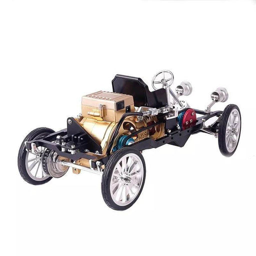 Teching Car Engine Assembly Kit Single Cylinder Car Building Kit Toy Gift for Adult - enginediy