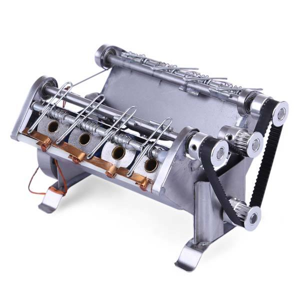 enginediy Engine Models Solenoid Engine V8 Electromagnetic Engine 8 Cylinder Electric Car Engine Model for Gift Colleation - Enginediy
