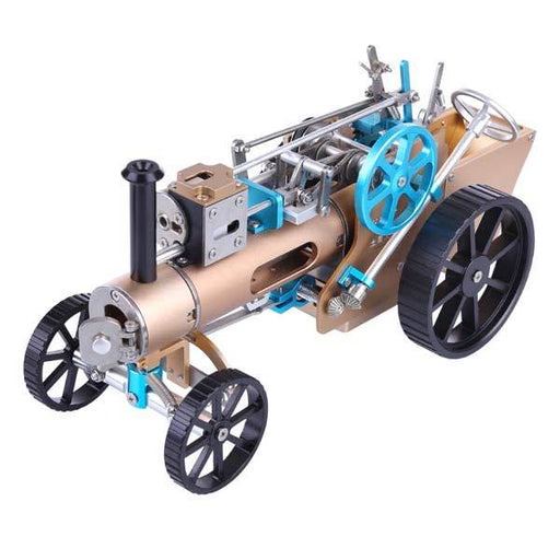 enginediy DIY Engine Steam Car Engine Assembly Kit Full Metal Car Engine DIY Build Kit for Gift Collection (272Pcs)
