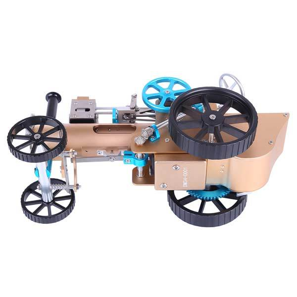 enginediy DIY Engine Steam Car Engine Assembly Kit Full Metal Car Engine DIY Build Kit for Gift Collection