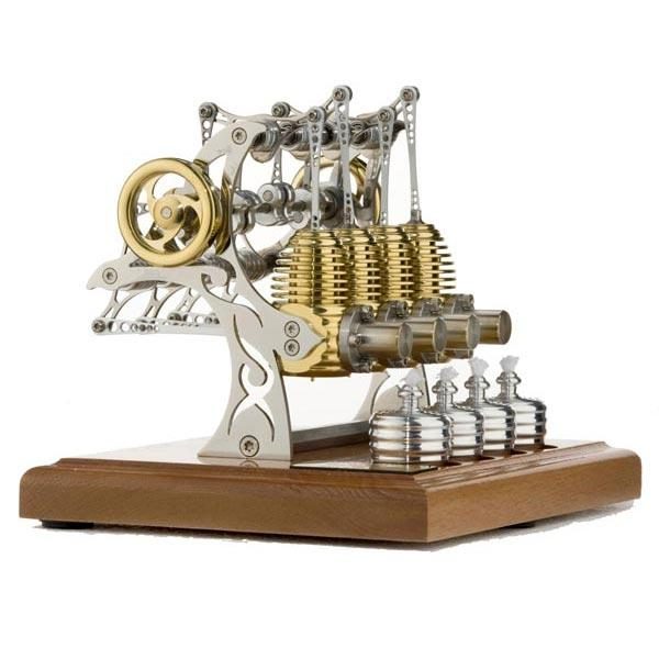 enginediy Multi-Cylinder Stirling Engine Stirling Engine Kit Unassembled High-end Precision Four Cylinder Stirling Engine Model for Gift Collection Enginediy