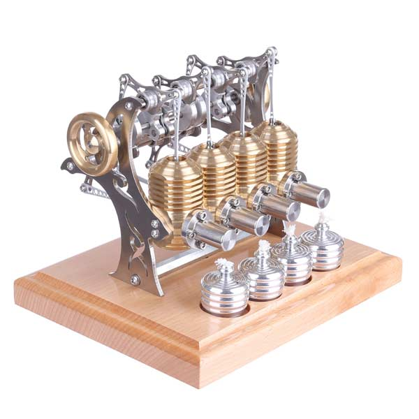Stirling Engine Kit 4 Cylinder Assembly Stirling Engine DIY Kit for Gift Collection Enginediy - enginediy