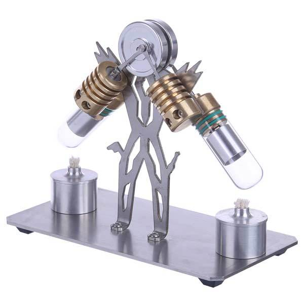 Stirling Engine Kit V2 2 Cylinder Stirling Engine Motor Model Education Toy - enginediy