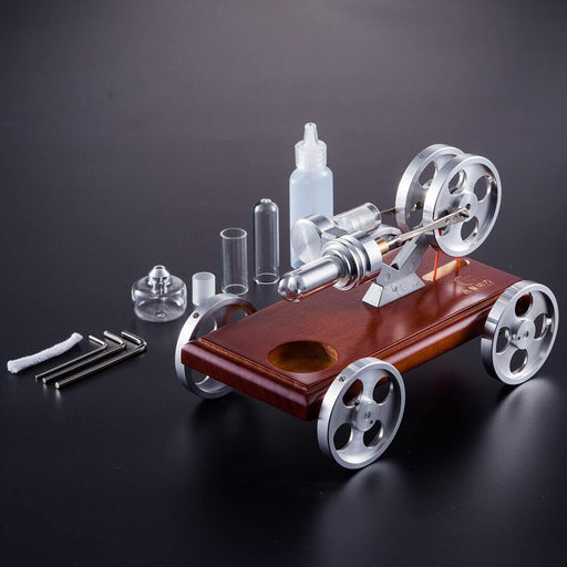 Stirling Engine Car Model DIY Stirling Engine Vehicle Kit Toy Engine - enginediy
