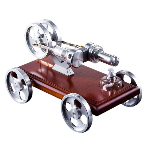 enginediy Engine Models Stirling Engine Car Model DIY Stirling Engine Vehicle Kit Toy Engine