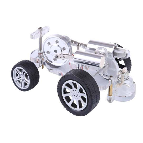 Stirling Engine Car Motor Model with Steering Science Educational Toy Enginediy - enginediy