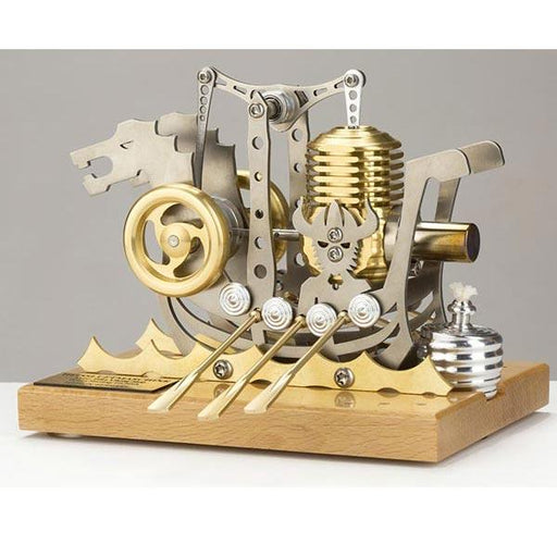 Stirling Engine Kit 2500RPM Dragon Ship Assembly Stirling Engine DIY Kit for Gift Collection Enginediy - enginediy