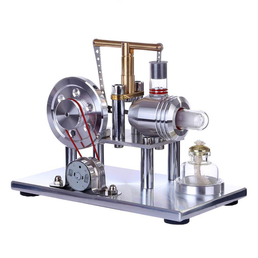 enginediy Stirling Engine with LED Stirling Engine Kit Hot Air Stirling Engine Electricity Generator with Colorful LED - Enginediy