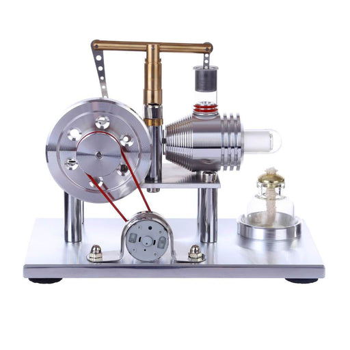 Stirling Engine Kit Hot Air Stirling Engine Electricity Generator with Colorful LED - Enginediy - enginediy