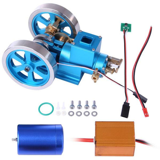 enginediy Engine Models Stirling Engine Kit Hit and Miss Engine Full Metal Internal Combustion Engine DIY Gift - Enginediy