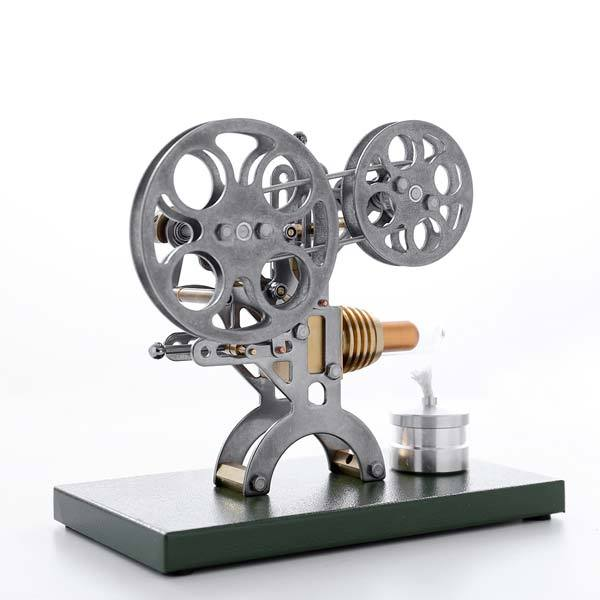 enginediy Single Cylinder Stirling Engine Stirling Engine Kit Retro Film Projector Engine Motor Model with Metal Base - Enginediy