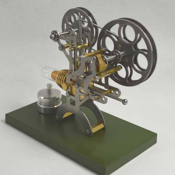 Stirling Engine Kit Retro Film Projector Engine Motor Model with Metal Base - Enginediy - enginediy
