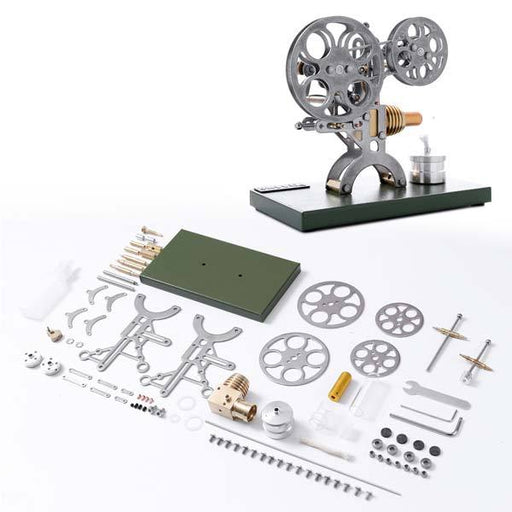 Stirling Engine Kit Unassembled Retro Film Projector Engine Kit - Perfect Gift Choice - enginediy