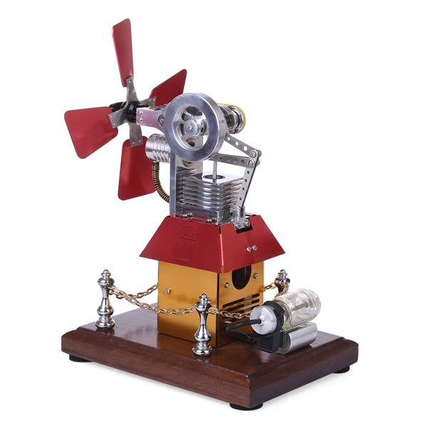 Stirling Engine Kit Windmill Fan External Combustion Engine Model Collection Gift - enginediy