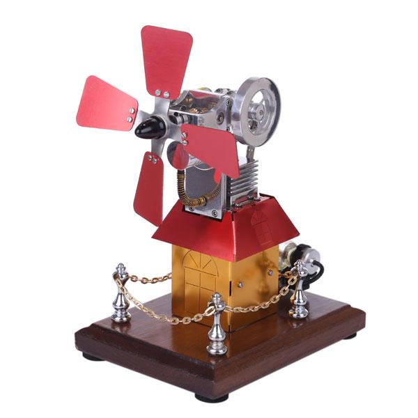 enginediy Engine Models Stirling Engine Kit Windmill Fan External Combustion Engine Model Collection Gift