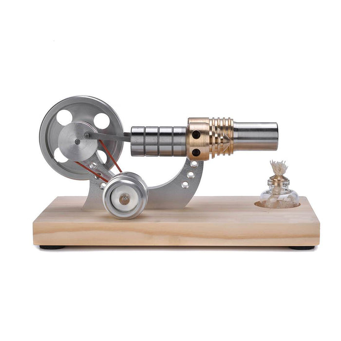 Stirling Engine Model with Wood Base LED Stirling Engine Electricity Generator Toy - Enginediy - enginediy