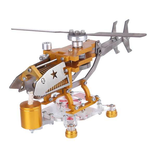 enginediy Vacuum Engine Stirling Engine with Helicopter Design Vacuum Engine Model Science Toy Decor Collection