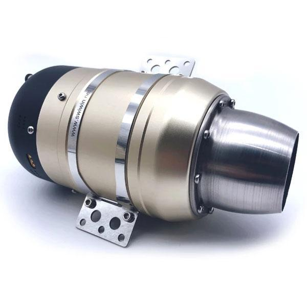enginediy Engine Models Swiwin SW80B 8KG Turbojet Engine Turbine Engine with ECU for RC Jet Plane