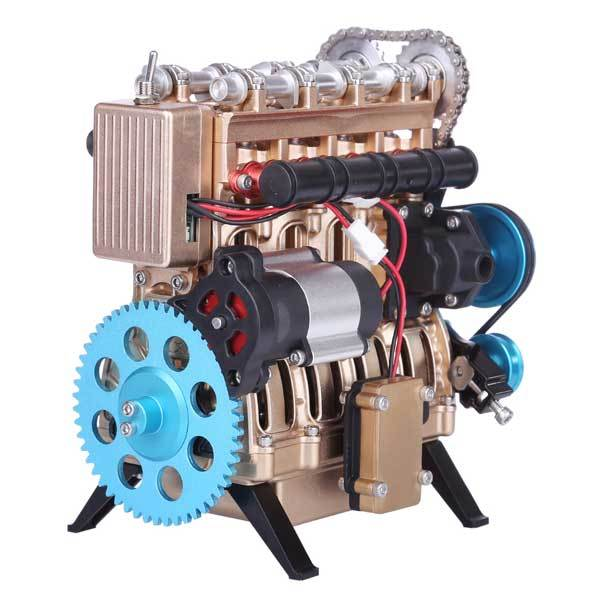 enginediy DIY Engine Teching V4 4 Cylinder Engine Model Kit Car Engine Building Kit Gift Collection DM13-B