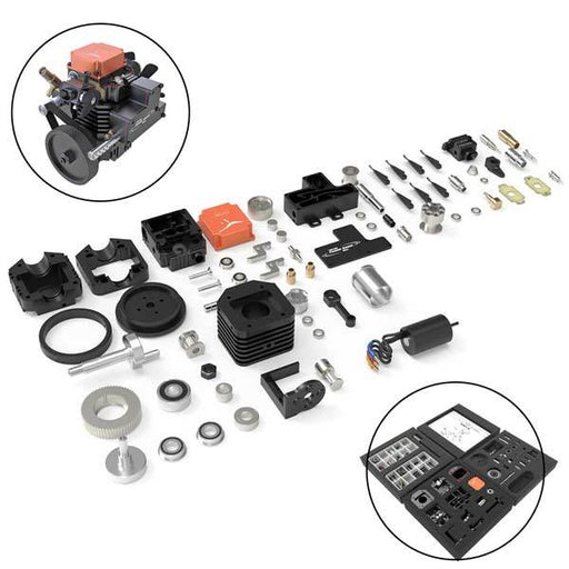 enginediy Toyan Engine Toyan Engine FS-S100AC 4 Stroke RC Engine Kit - Build Your Own RC Engine -130Pcs