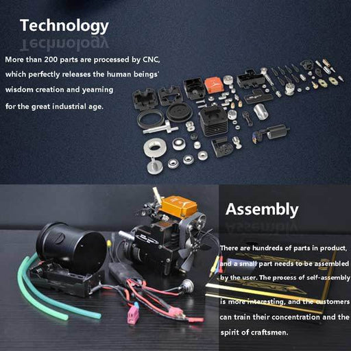 enginediy Toyan Engine Toyan Engine FS-S100AC RC Engine Building Kit Set with Toyan Base (All Start Kit Included)