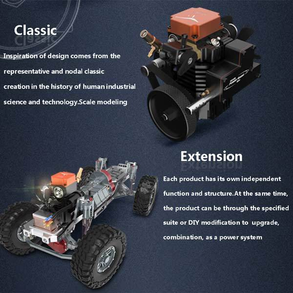 enginediy Toyan Engine Toyan Engine FS-S100 4 Stroke RC Engine Kit Set with Toyan Base (All Start Kit Included)