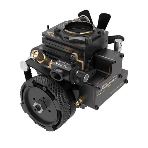 enginediy Toyan Engine Toyan Engine FS-S100AT Transparent Nitro-Methanol Gasoline 4 Stroke RC Engine - 5th Anniversary Edition