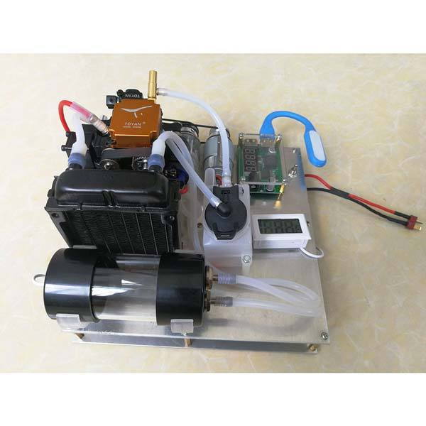 enginediy Toyan Engine Toyan Engine FS-S100 Water-Cooled Nitro-Methanol Generator Set with Water Pump Radiator Thermometer