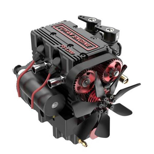 TOYAN FS-L200 Engine 2 Cylinder Four Stroke Nirto RC Engine Model Compatible With 1: 10 1: 12 1: 14 RC Car Vehicle RC Truck RC Boat - enginediy