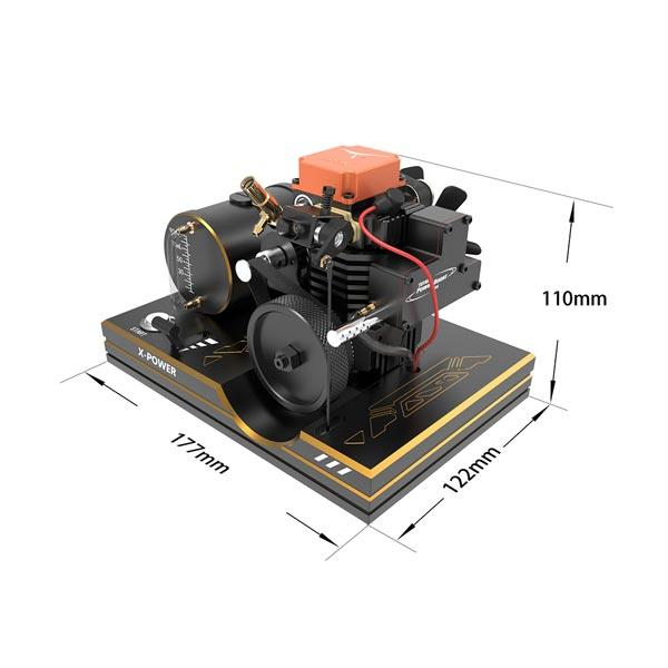 Toyan Engine Base Mount for FS-S100 FS-S100G Full Metal Bracket with Tank, Battery Box, One Key Start Button, ect. - enginediy