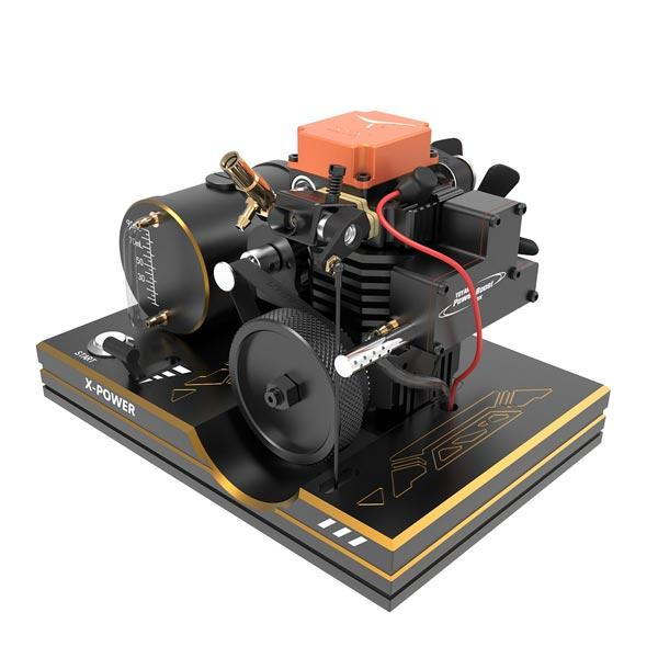 enginediy RC Engine [ Newly Release ] Toyan Engine Base for FS-S100 FS-S100G Full Metal Toyan Engine Bracket with Metal Tank, Battery Box, One Key Start Button, ect.