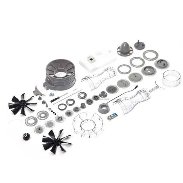 enginediy DIY Engine Turbojet Engine Jet Engine Assembly Kit - Ideal Gift for Collection