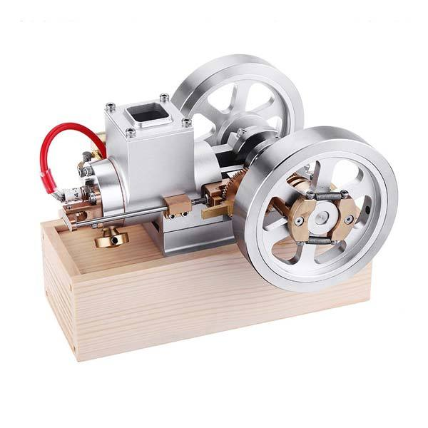 enginediy Engine Models Upgrade Hit & Miss Gas Engine Full Metal IC Engine With Base Collection Gift