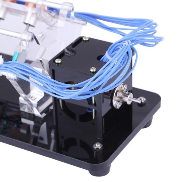 V12 Electromagnetic Engine 5V 6W 12 Coils High Speed V-Shaped Automobile Engine Model for Gift Collection
