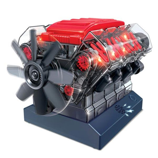 enginediy DIY Engine V8 Engine Model Kit - Build Your Own V8 Engine - Science Experiment STEM Toy - Enginediy