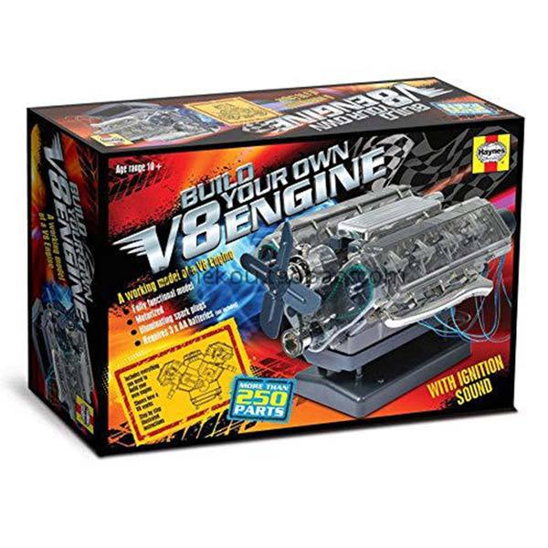 enginediy V8 Engine Model Kit that Works - Build Your Own V8 Engine - V8 Engine Building Kit